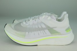 "NIKE ZOOM FLY WOMEN'S SIZE 5.5 TO 10.5 'VOLT"" WHITE NEW RUNNING COMFORT ... - $139.99"