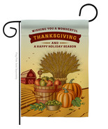 Thanksgiving Holiday - Impressions Decorative Garden Flag G163083-BO - $19.97