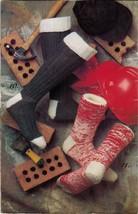 1991 Mens Knit Kroy Work Argyle Pyramid Socks Ladies Snowflake Gloves Pa... - $12.99