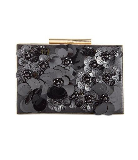 $110 INC International Concepts Adlee 3D Floral Clutch