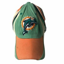 Miami Dolphins NFL Reebok Mens Cap Blue Orange Color Block S Vtg - $18.50
