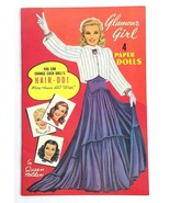 Vintage Queen Holden Paper Dolls Book Glamour Girl 1985 Reprint Uncut - $22.02