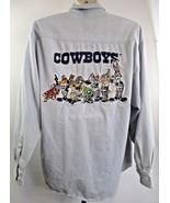 Vintage 1993 Dallas Cowboys Football Shirt Looney Tunes Bugs Bunny Sz Me... - $27.71