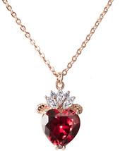 Vinjewelry Queen of Hearts Evie Costume Necklace Descendants Ruby Red He... - $51.49