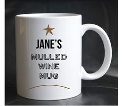 PRINTED PERSONALISED CHRISTMAS MULLED WINE MUG XMAS Present Gift Cup Alc... - $12.52