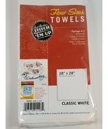 Flour Sack Towels White Cotton 2 pack 28 Inches x 28 Inches  - $7.25