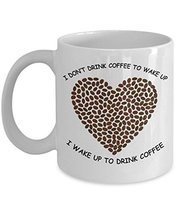 Cool Coffee Lover Mug for Who loves Coffee, 11oz Ceremic White coffee lovers mug - $12.95