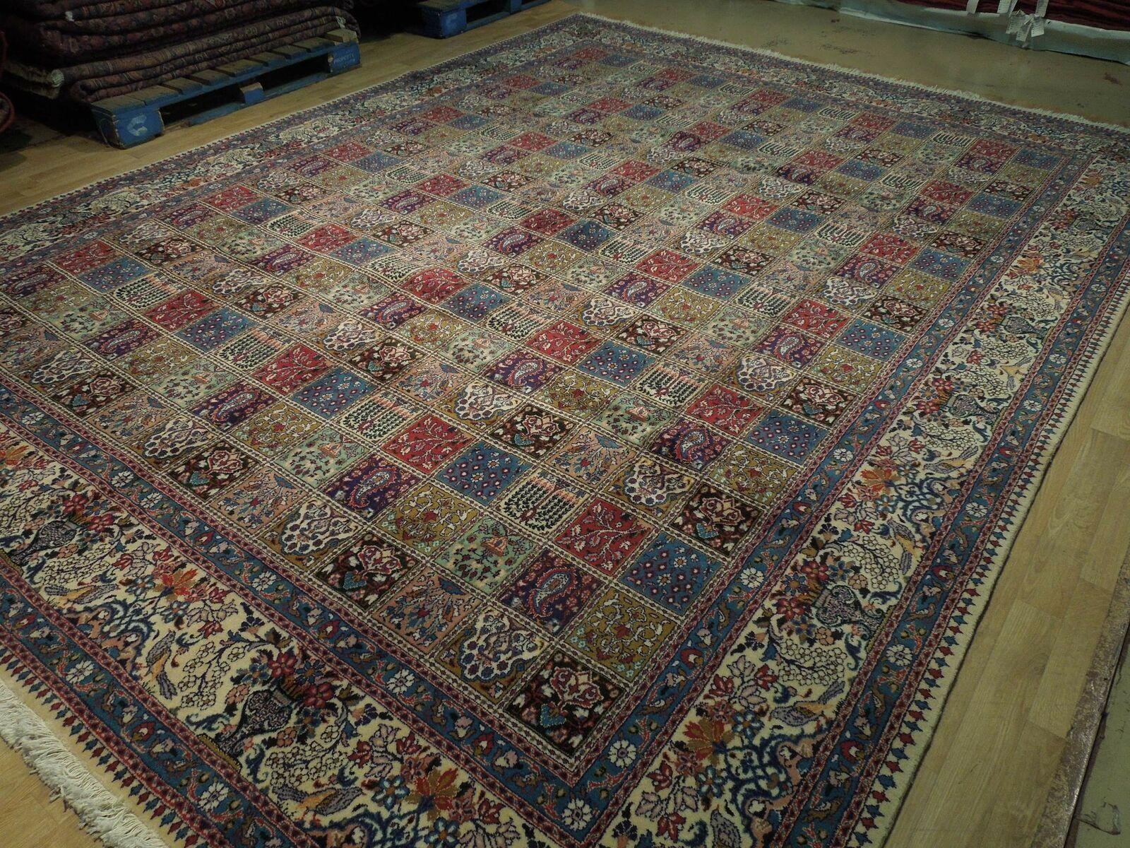 9 x 13 Fine Quality Complex Design Multi-Color Bakhtiari Persian Rug image 5