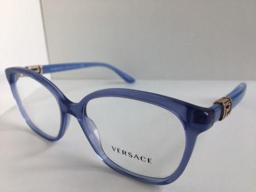 e9764c486957 ... New Elegant Versace Mod. 3235-B 5225 Blue 54mm Eyeglasses Italy ...