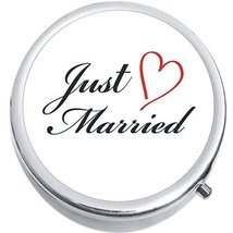 Just Married Medicine Vitamin Compact Pill Box - $9.78