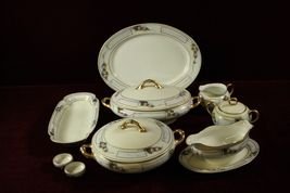 Bavaria China Floral Pattern Serving Dish   Antique - $225.63
