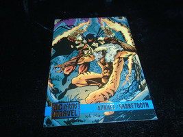 1995 DC Versus Marvel Fleer SkyBox Card #52 Azrael Vs. Sabretooth - $1.49