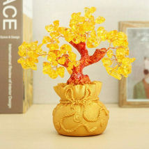 Feng Shui Crystal Wealth Lucky Money Tree Best Gift & Home Good Luck Decoration image 6