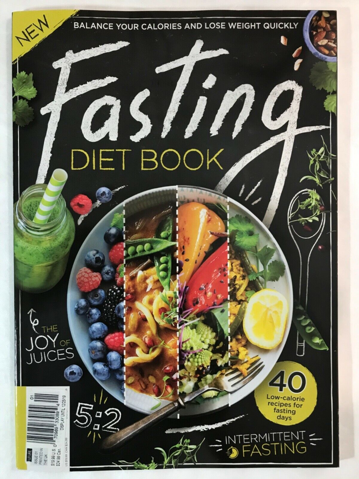Primary image for FASTING Diet Book a mag for many types of fasting recipes & techniques: Dec 2019