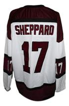 Custom Name # Boston Braves Retro Hockey Jersey 1970 New White Any Size image 2