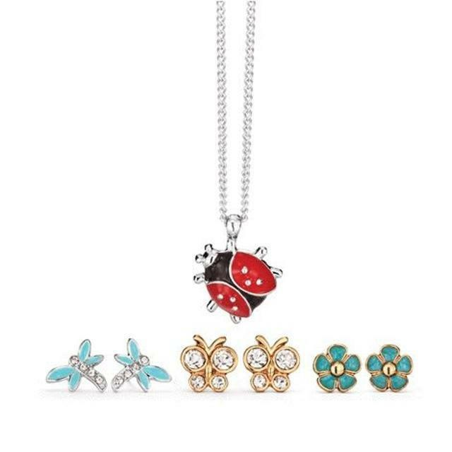 Avon Spring Critters Necklace and Earring Set