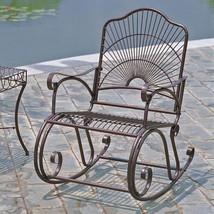 International Caravan Sun Ray Iron Rocking Chair - $230.40