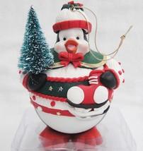 Christmas Ball Ornament Figural Penguin with Ice Skates Cute NIB - $14.84