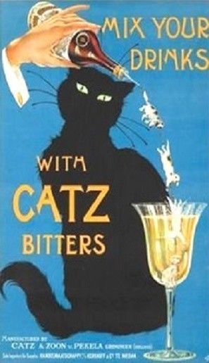 Mix Your Drinks With Catz Bitters Magnet