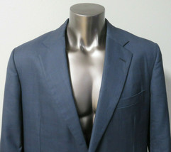 Tom James Royal Classic Mens Blue Windowpane Sport Coat Blazer Size 46R - $74.24