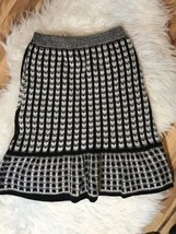 Anthropologie Sparrow Flare Hem Knit Striped Checked Sweater Pencil Skirt XS - $38.61