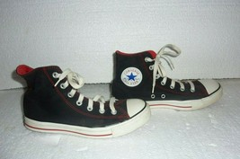 Converse ALL STAR Chuck Taylor Hi-Top Black Red Trim Mens Size 6  S-17 - $19.34
