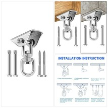 Awroutdoor Heavy Duty Swing Hangers with SUS304 Stainless Steel 360° Rot... - $22.63