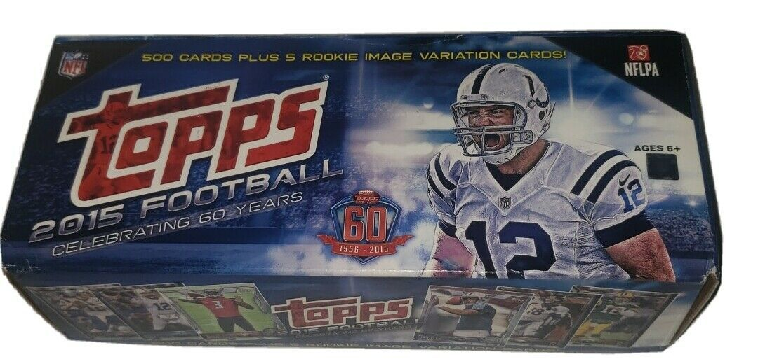 Topps 2015 Football Celebrating 60 Years 500 Cards + 5 SEALED Rookie Cards NFL - $42.77