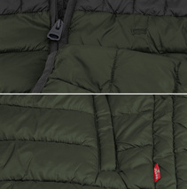 Levi's Men's Puffer Embroidered Logo Hood Quilted Packable Zipper Red Tab Jacket image 4