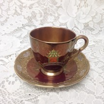 Vintage, Carlton Ware, England, Gaudy Blue Willow Demitasse Cup and Saucer - $56.95