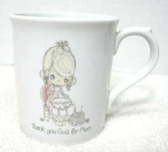 "1986 Enesco Precious Moments Coffee Mug Cup Thank You God For Mom 3 1/2""  - $29.69"