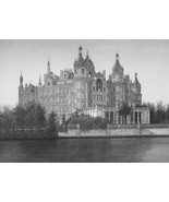 GERMANY Schwerin Castle - 1860 SCARCE Engraving Print - $42.08