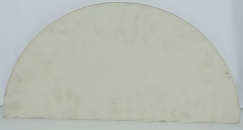 Unbranded Flat Baking Stone Ceramic Color White Shape Half Moon