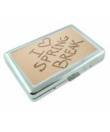 Spring Break D9 Silver Metal Cigarette Case RFID Protection Wallet - $11.83