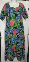 Vintage Hilo Hattie Muumuu Muu Muu Long Dress Medium M  Maxi Tropical Fl... - $39.59