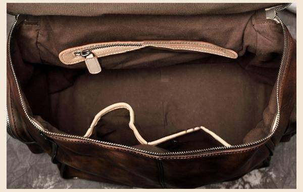 Sale, Vintage Leather Women Backpack, Leather School Backpack, Leather Designer  image 6