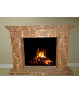 Red Onyx Stone Fireplace Surround Mantel Living Family Great Room FPS-12 - $5,898.00