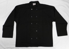 Chef Coat Jacket Black Uncommon Threads 402 Restaurant Uniform XL New - $24.47