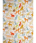 Kitty Cat Feline Mouse Play Cream Cotton Fabric Smarty Cats by The Yard - $27.21