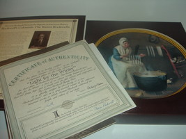Norman Rockwell Light For Winter Rockwell Colonials Plate Box COA 1987 K... - $18.99