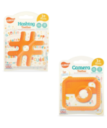 2 Pack Baby Teething Toys - Ulubulu - Unisex - Hashtag and Camera Teethers - $19.99