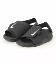 New!! Kids Nike Sunray Adjust V TD Black Sandals!! - $29.99