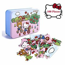 100 Piece Puzzles for Kids,Hello Kitty Puzzles for Kids in a Box Jigsaw ... - $20.72