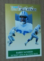 1991 FLEER ULTRA ALL STARS INSERT BARRY SANDERS LIONS #1 OF 10 - $1.49