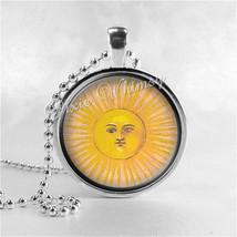 SUN Pendant Necklace, Celestial Jewelry, Vintage Sun Altered Art Jewelry... - $11.95