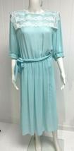 Vintage Monica Richards women's dress sheath light green size 14 - $13.75