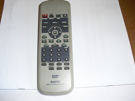 rb-5100  sanyo   dvd  remote  control - $7.99