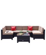 7 PC Patio PE Wicker Furniture Sectional Set Backyard Outdoor Garden Sof... - $599.99
