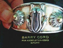 Barry Kieselstein Cord Frog & Flowers Cuff Bracelet Sterling & 14K Gold Orig Box image 6