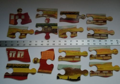 Twilight Express Puzzle Milton Bradley Antique Jigsaw Pieces Box Toy Treasure image 9